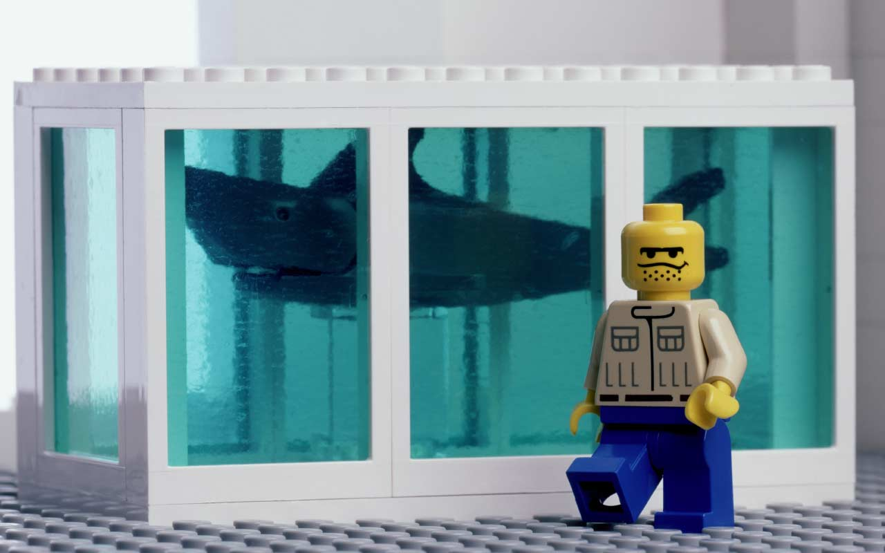 Hirst's Shark Tank Lego by The Little Artists